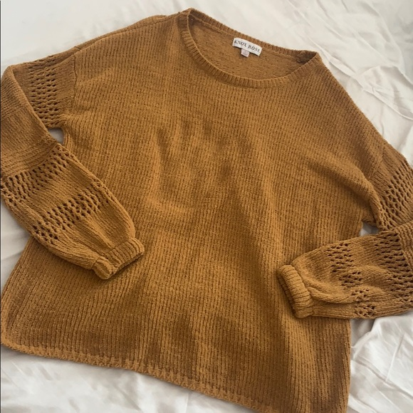 Knox Rose Sweaters - Mustard Knit Sweater